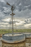 Waterhole and Windmill Near Keota, CO