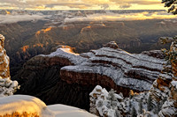 From Mather Point (O'Neill Butte in snow)